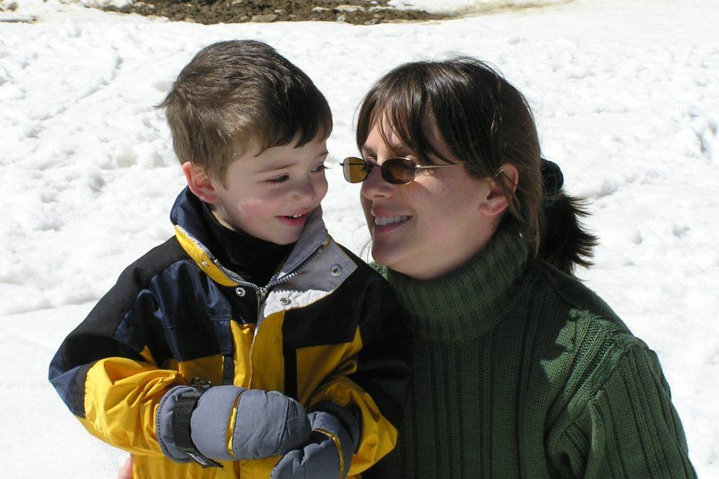 A stepmom and her stepson.